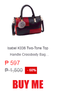 Isabel K036 Two-Tone Top Handle Crossbody Bag