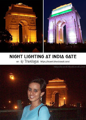 India Gate photos images at night