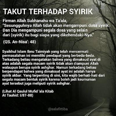 kata kata motivasi islam jauhi syirik