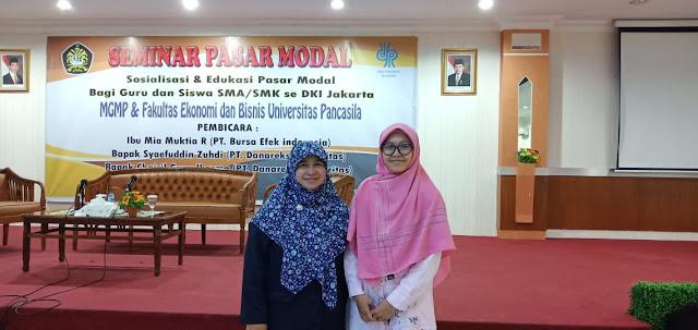 Guru Ekonomi SMAN 110 Ikuti Seminar Pasar Modal MGMP DKI