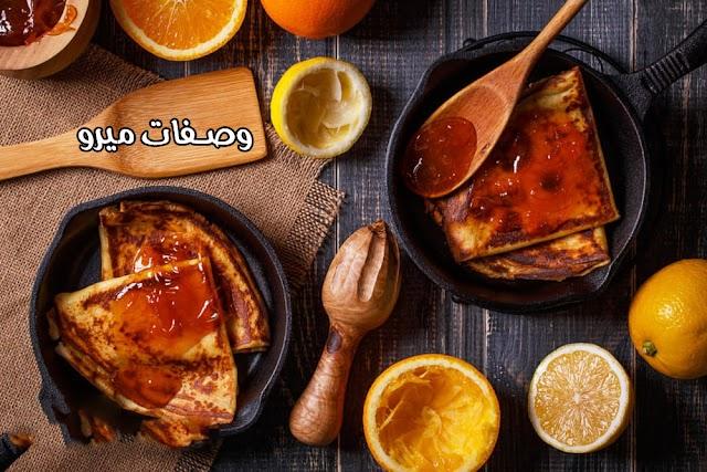 طريقة عمل الكريب بالعسل والبرتقال