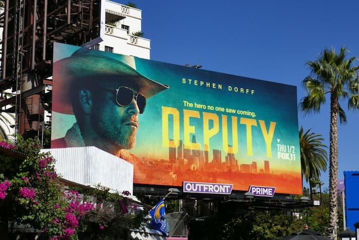 Deputy series launch billboard