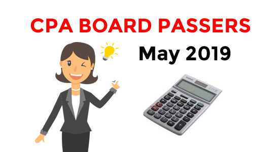 CPA Board Exam Result May 2019 List of Passers