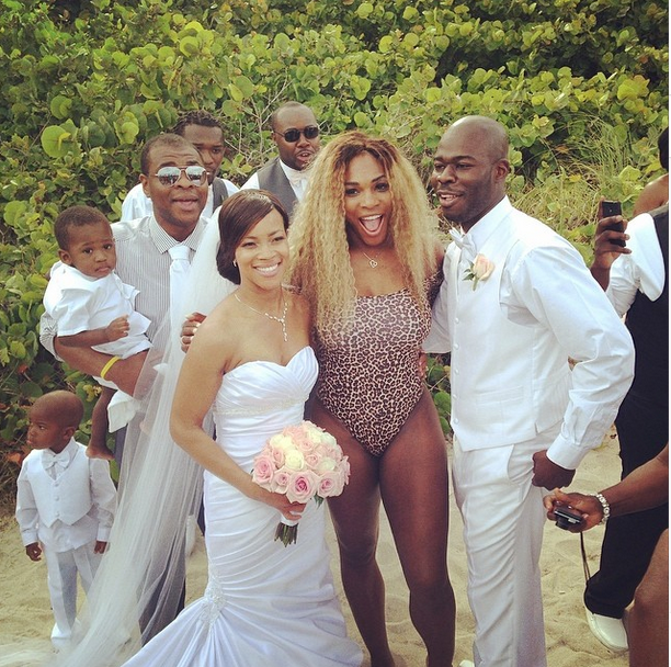 Beach Wedding Ceremony Playlist: Tennis Star, Serena Williams Gate Crashes Couple's Beach