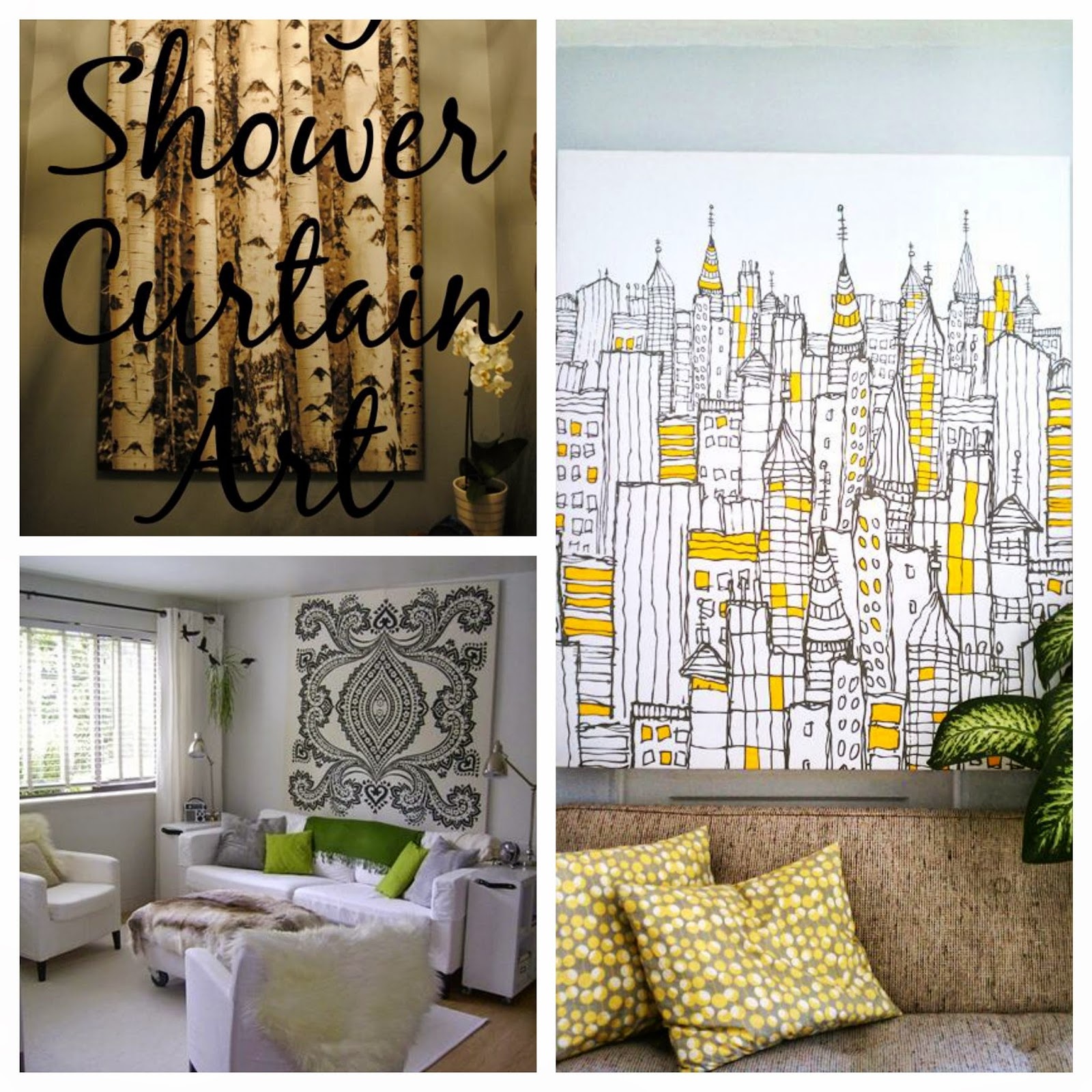 shower curtain wall art