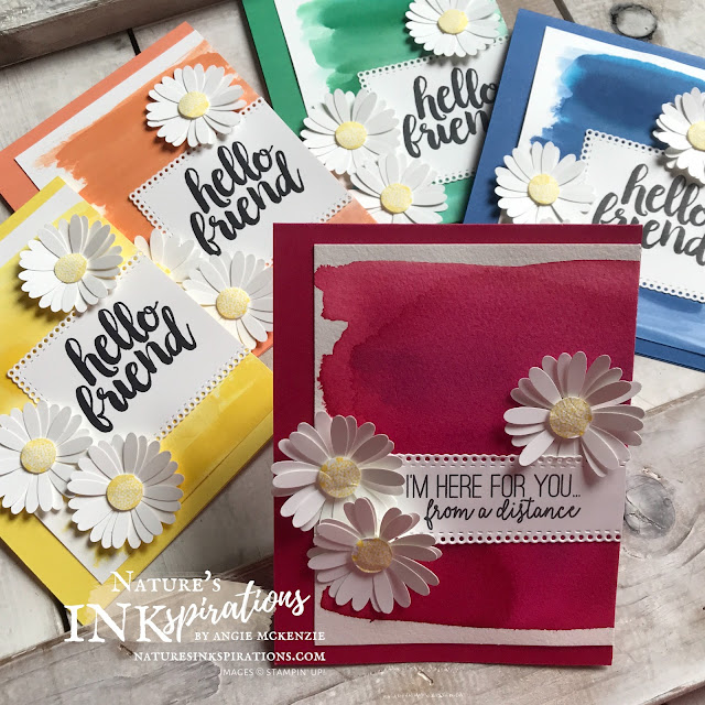 By Angie McKenzie for 3rd Thursdays Blog Hop; Click READ or VISIT to go to my blog for details! Featuring the Daisy Lane and Tasteful Touches stamp sets, the Seriously the Best retiring stamp set, the Medium Daisy Punch, the Ornate Layers Dies, the Old World Paper 3D Embossing Folder, the retiring 2018-2020 In Colors and the new 2020-2022 In Colors from Stampin' Up!; #stampinup #daisylanestampset #tastefultouchesstampset #seriouslythebeststampset #naturesinkspirations #ornatelayersdies #mediumdaisypunch #sharesunshinepdfdownload #oldworldpaperembossingfolder #handmadecards #friendshipcards #quarantinecards #thirdthursdaysbloghop #illmissyou20182020incolors #hello20202022incolors
