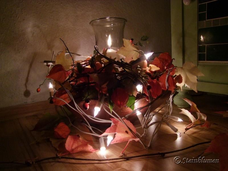 Lampionkranz mit Lichterkette