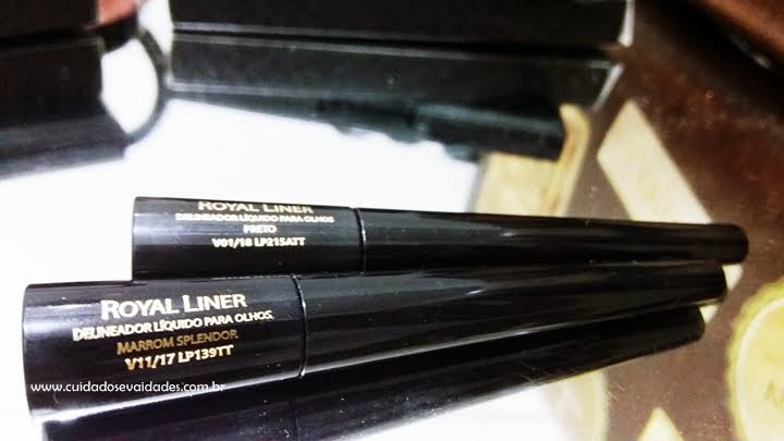 Delineadores Royal Liner Eudora Preto Absoluto e Marrom Splendor