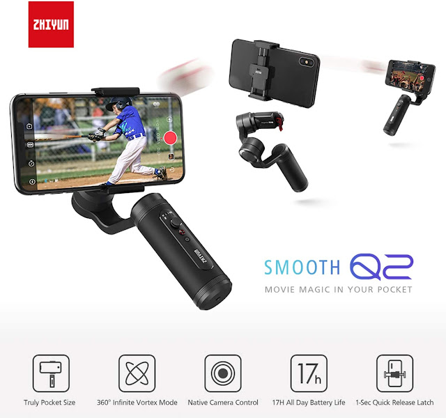 Zhiyun Smooth Q2 3-Axis Handheld Smartphone Gimbal Stabilizer for iPhone