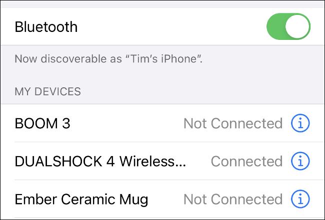 قم بإقران DualShock 4 مع iPhone عبر البلوتوث
