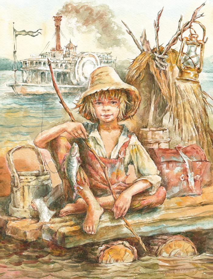 Картинки марк твен приключения гекльберри финна