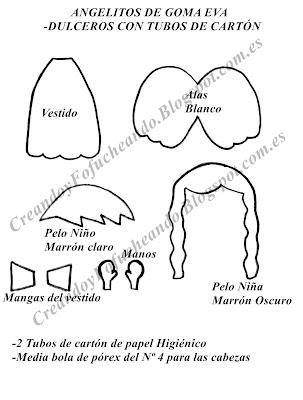 Angelitos de Goma eva