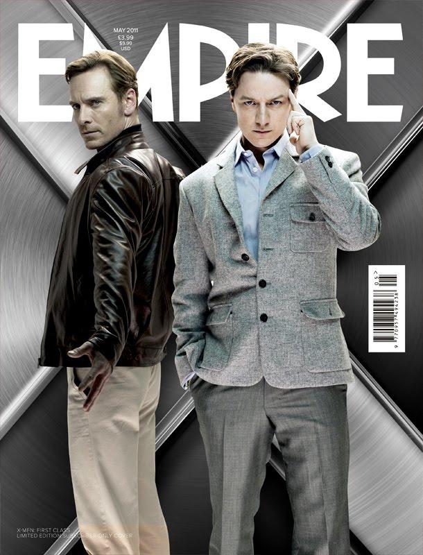 Portada Empire con los protagonistas de X-men firts class