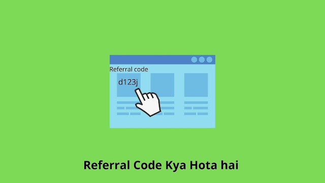 Referral code image showing referral code example