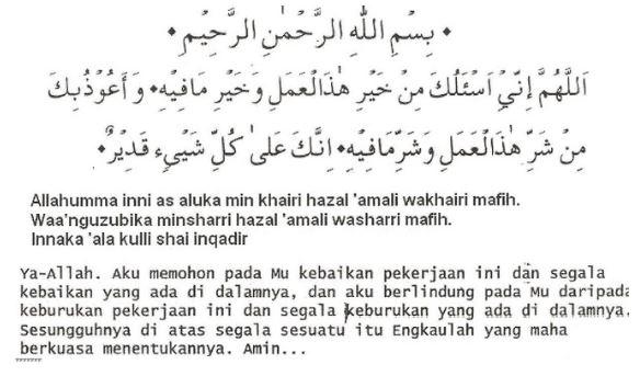 Bacaan Doa Sebelum Bekerja Islam Bahasa Arab Latin dan Artinya