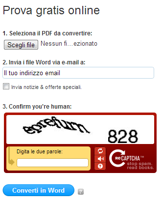 come convertire un pdf in word gratis online