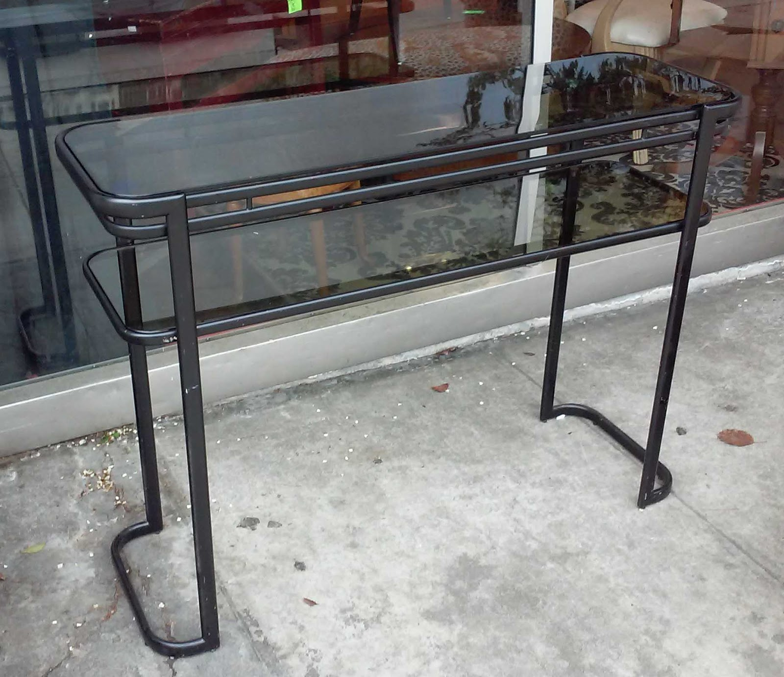 Uhuru furniture collectibles sold 43 x14 glass topped - Table console extensible solde ...