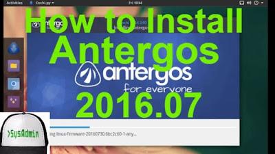 Install Antergos 2016.07