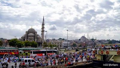 Gereja Ayasofya warisan Bizantium dan Mesjid Sultanahmed warisan Islam di Istanbul, Turki. Gambar: Ariful Azmi Usman