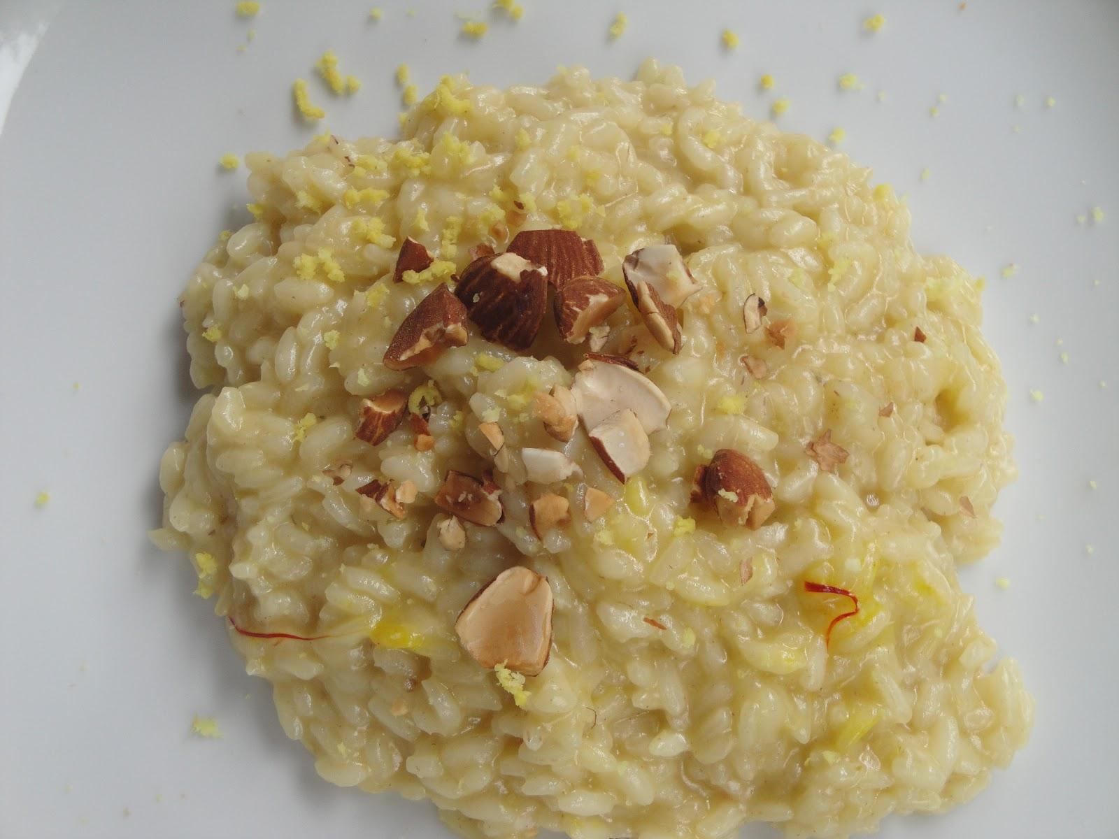 Le franc buveur quasi 8 marzo risotto con mandorle e for Ricette culinarie