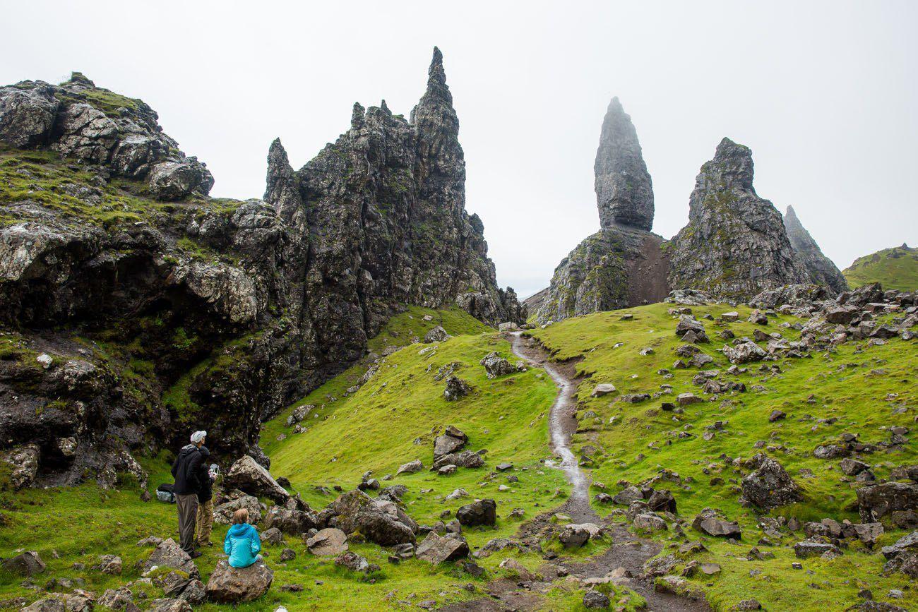 Тропа Старик из Сторра на острове Скай в Шотландии