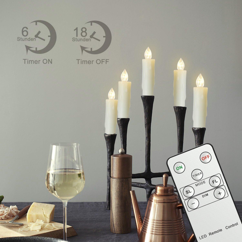 Weihnachtsdeko Led Kerzen.Koopower Koopower 20stk Led Kerzen Aus Echtwachs Für Weihnachtsbaum