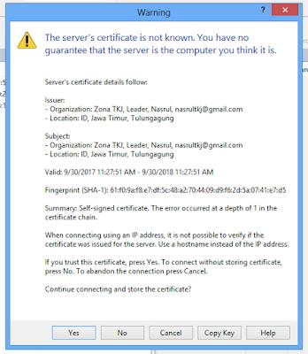 Cara Installasi dan Konfigurasi FTPS (Secure) Debian 9 Dengan Proftpd 28