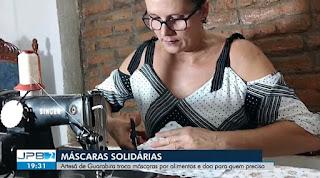 Professora e artesã de Guarabira é destaque na mídia estadual por iniciativa que ajuda famílias carentes na pandemia