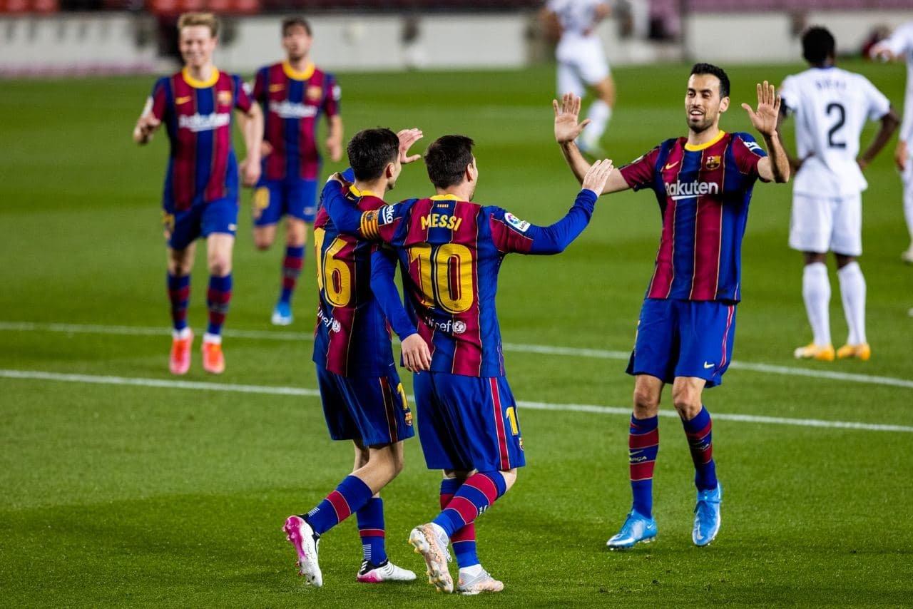 برشلونة، خيتافي، ريال مدريد، أتليتكو مدريد، ميسي