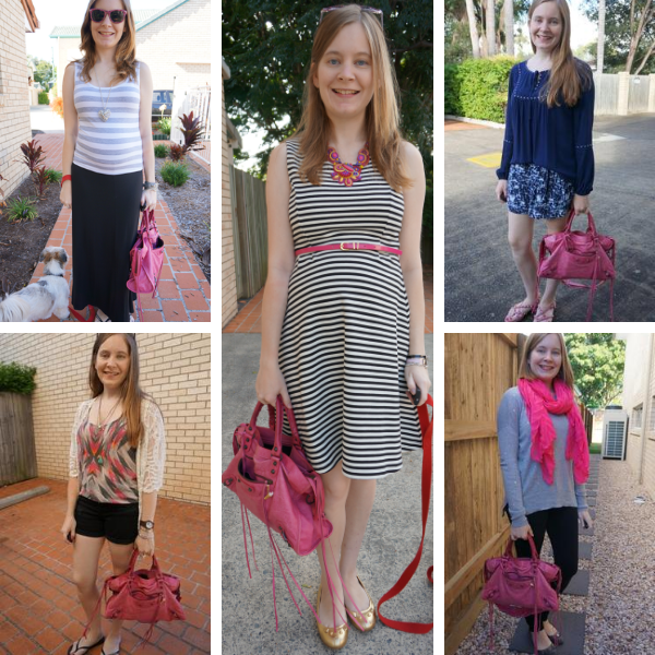 5 ways to wear pink balenciaga city bag sorbet 2010 with matching pieces in outfit away from blue