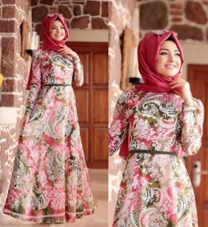 Gamis batik remaja muslimah jaman sekarang