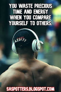 You waste precious time and energy when you compare yourself to others.