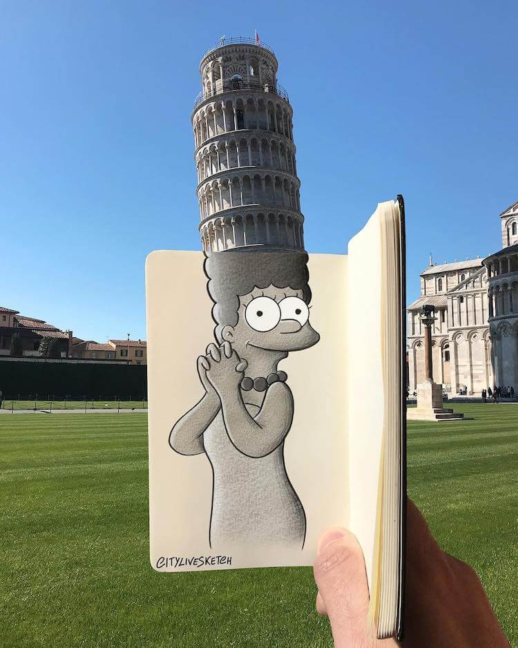 Artist Merges Cartoon Characters with the Real World, and the Results are Epic