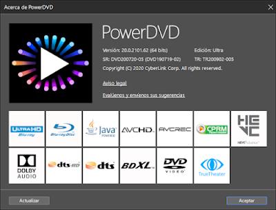 CyberLink PowerDVD Ultra v20
