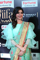 Samantha Ruth Prabhu Smiling Beauty in strange Designer Saree at IIFA Utsavam Awards 2017  Day 2  Exclusive 31.JPG