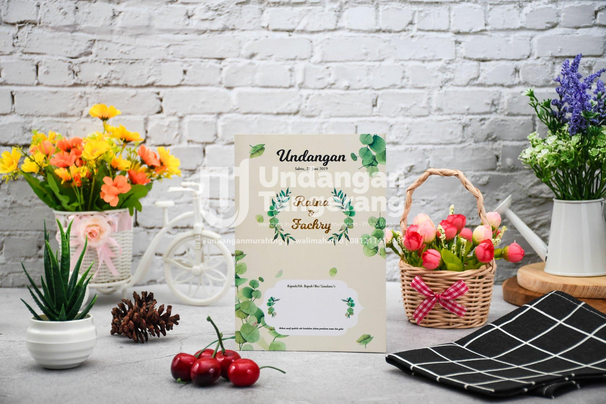 Undangan Pernikahan Tangerang Softcover A01 - Walimahanid