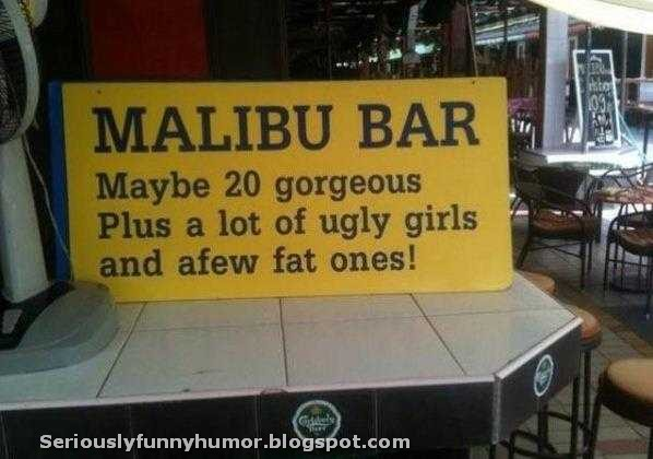 MALIBU BAR - Maybe 20 gorgeous. Plus a lot of ugly girls, and a few fat ones! :D
