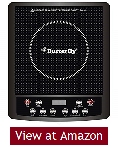 Butterfly Glass Top and ABS Induction cooktop