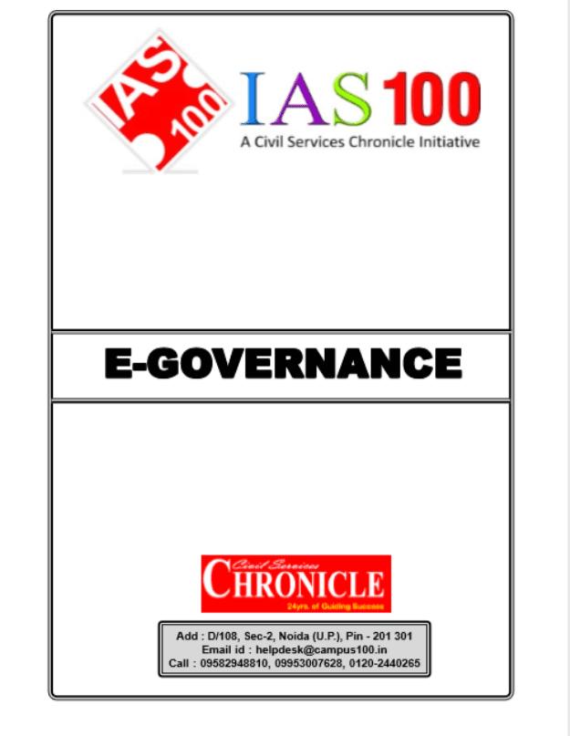 E-Governance-by-Chronicle-IAS-Academy-For-UPSC-Exam-PDF-Book