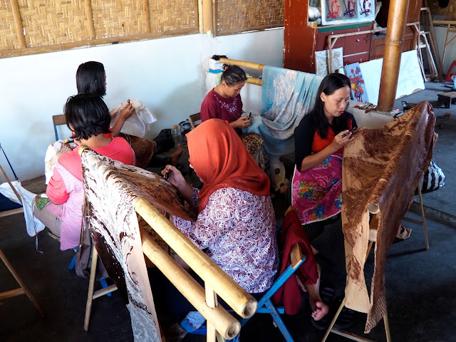 Batik workshop, Yogyakarta, Java, Indonesia