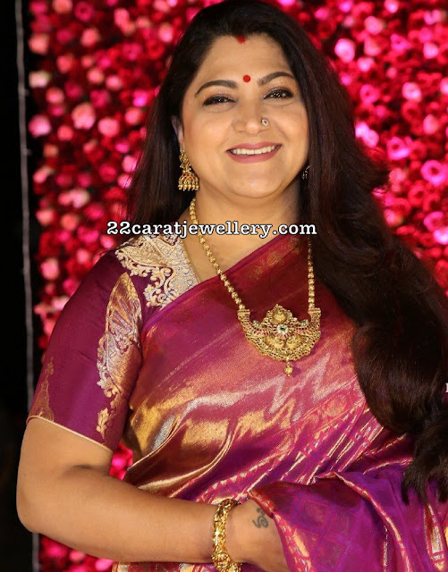 Kushboo in Antique Gold Balls Set
