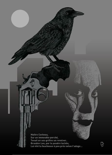 Gwen Tomahawk The Crow Brandon Lee Illustration