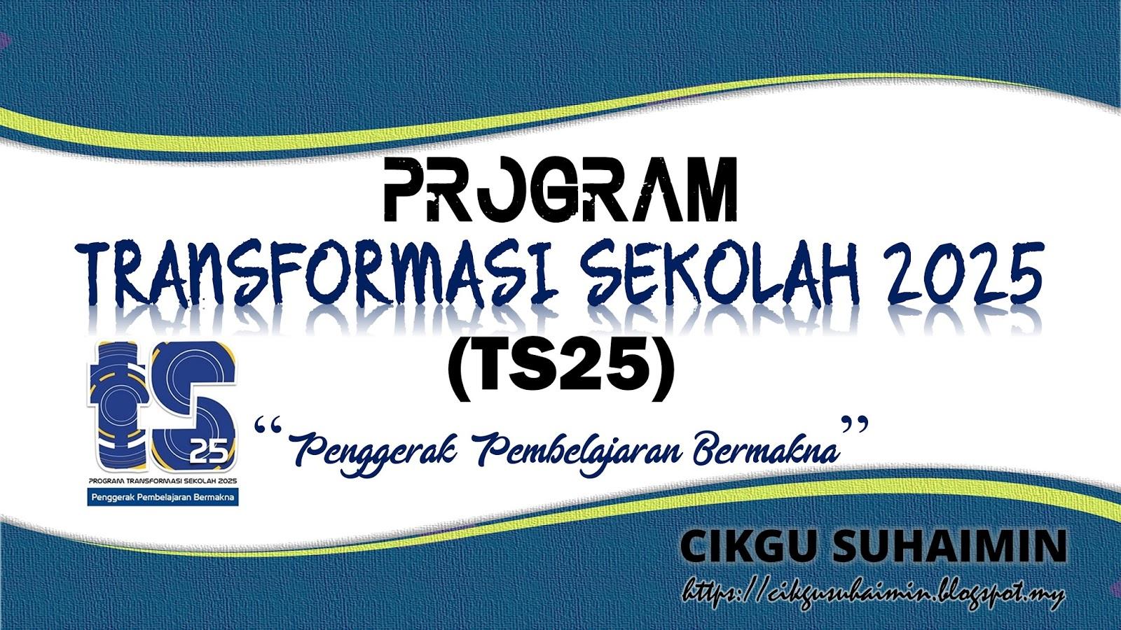 Program Transformasi Sekolah 2025 Ts25