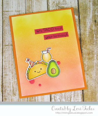Let's Taco 'bout Your Birthday card-designed by Lori Tecler/Inking Aloud-stamps and dies from Lawn Fawn