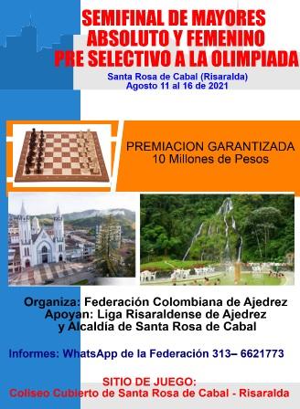 Semifinal Nacional de Mayores Abs y Fem - Preselectivo Olimpiada Mundial 2023 (Dar clic a la imagen)