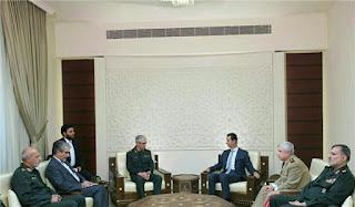 Iran's Top Military Commander Meets President Assad