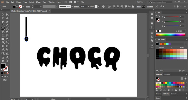 Melted Chocolate Text Effect in Adobe Illustrator