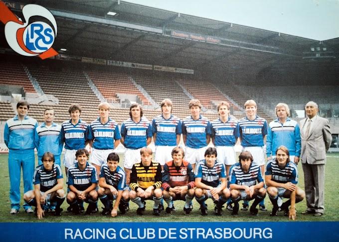 R.C STRASBOURG 1984-85.