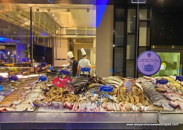 fresh seafood in Medley Pullman Dubai