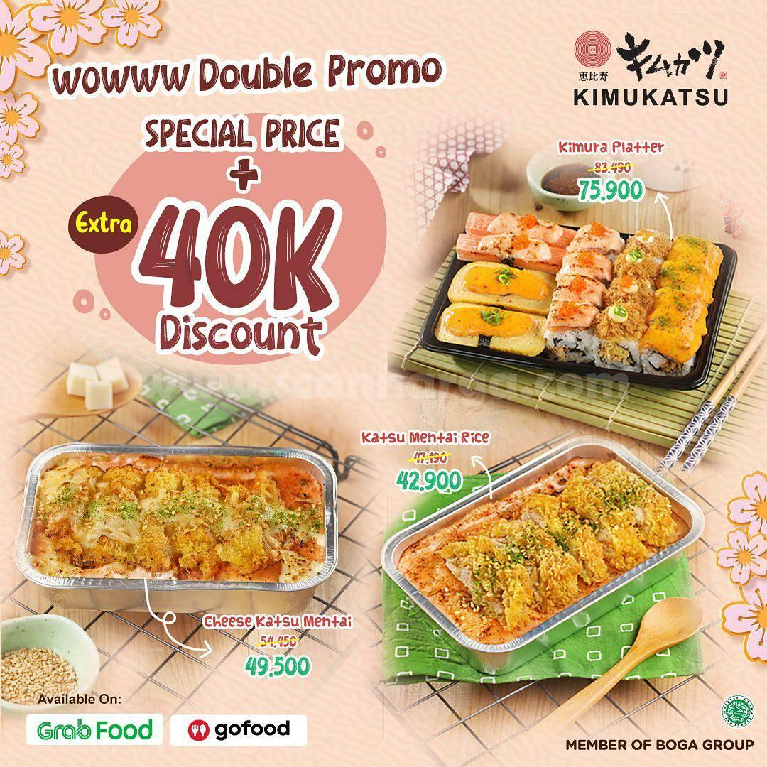 KIMUKATSU Double Promo! Special Price untuk menu pilihan + Diskon Extra Rp 40.000
